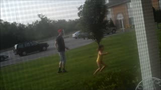 Water Balloon to the Groin at Birthday Party - Video