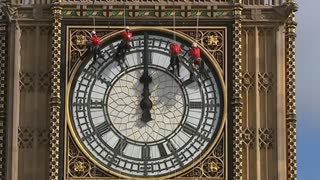 Big Ben clock puts on a new face - Video