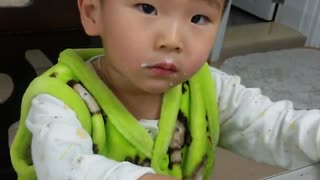 Toddler frustrated from too much studying - Video