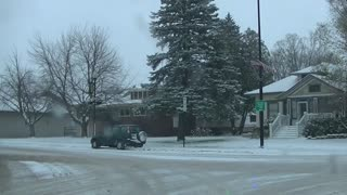11-10-14 Eau Claire, Wisconsin Snow - Video