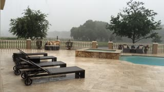 Sheeting Rain from Tropical Storm Colin at Casa Bella Estate, Odessa Florida - Video