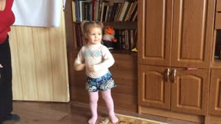 Baby dance with Toy