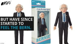Get Your Own Bernie Sanders Action Figure - Video