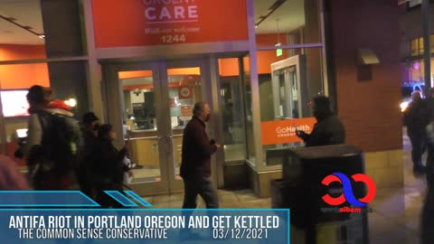"""Anti"" Kettled ""Fa"" By Portland Police After Riot In Downtown Portland Oregon"