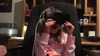 WHOA! Girl reacts to virtual reality  - Video