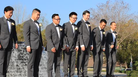 Best Man Falls While Doing A Photo Shoot With The Groom