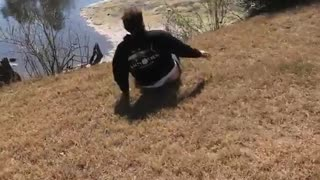 Guy attempts front flip lands on his head - Video