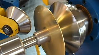 Spinning a Brass Lamp Top - Video