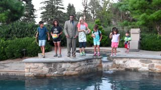 Family Pool Plunge - Video