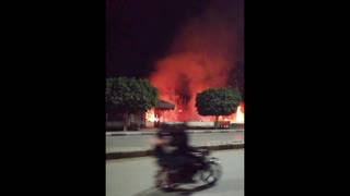 A huge fire when I was on the Istreet yesterday fayoum