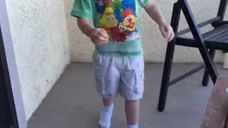 3-Year-Old Xander Dancing Machine  - Video