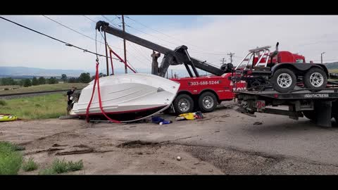 Jeep Flips New Boat after Proceeding through Stop Sign