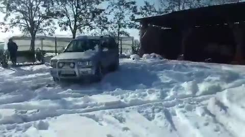Opel Frontera OFF ROAD on SNOW