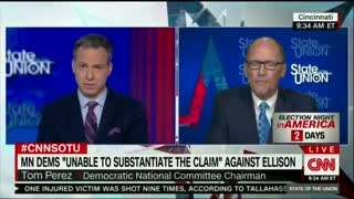 Tom Perez struggles to defend Keith Ellison amid domestic abuse accusations