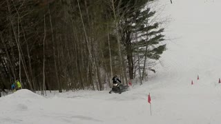 Snowmobile Strikes Head - Video