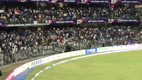Crazy Fan Crosses Fence During a Cricket Match in India