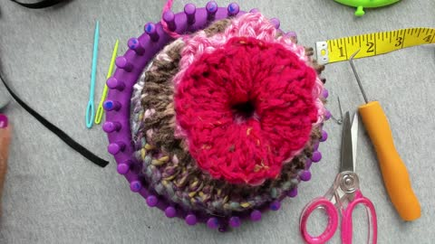 Let's Loom Knit A Scrunchie For the Hair