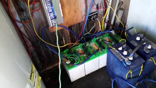4 Golf Cart Batteries Powering Off Grid Ranch House - Video