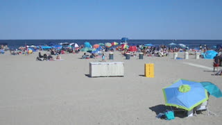 BRADLEY BEACH - OCEAN PARK AVENUE ENTRANCE (NJ New Jersey Shore Travel) - Video