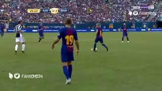 Neymar scored Goal after Numerous Dribbles Vs Juventus - Video