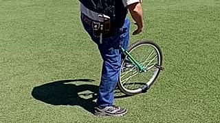 Learning how to ride a unicycle