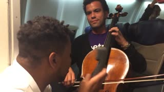 Cellist and Beatbox on a Southwest Flight! - Video