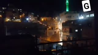 Clashes in the Obeid neighborhood in the village of al-Issawiya in the Jerusalem area