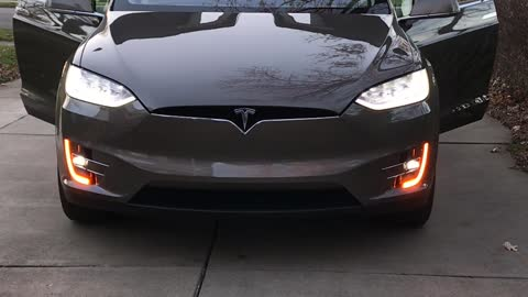 Tesla Model X Turns Into A Christmas Batmobile