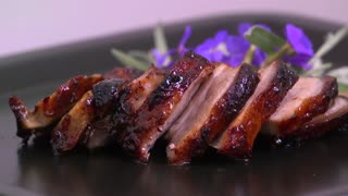 Roast Pork Meat Food Roasted Dinner Meal Grilled - Video