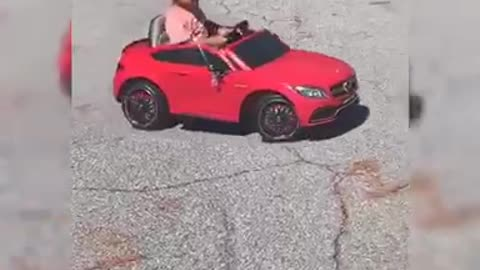Toddler gets surprised on her birthday with new car