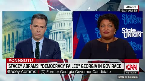 "Stacey Abrams accuses Brian Kemp of ""voter suppression"""