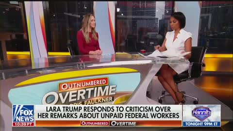 Lara Trump Fights Back On Media Attacking Her Federal Workers Statement