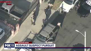 Police Pursuit Of Assault with a Deadly Weapons Suspect, End with Several Citizens...
