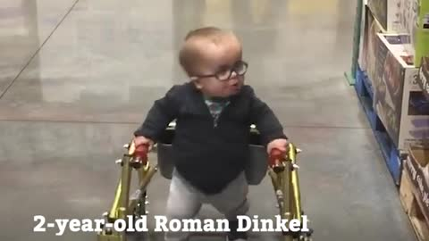 Toddler with Spina Bifida Takes First Steps On His Own