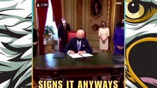 Joe Biden Doesn't Know What He's Signing