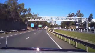 Accident Logan Motorway - Video