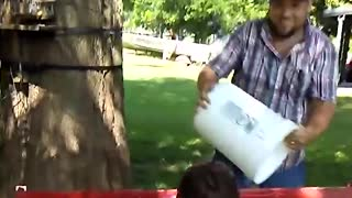 Dad Wakes Up Daughters With Ice Cold Bucket Of Water - Video