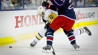 Zach Werenski Takes a Puck TO THE FACE, Out for Playoffs with Facial Fracture - Video