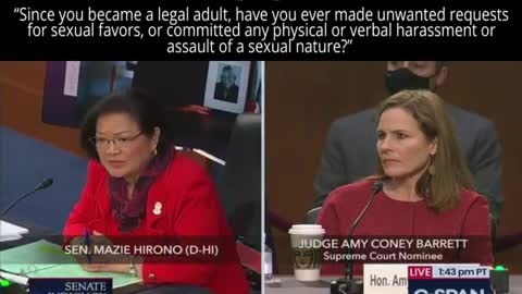 Sen. Hirono Asks Amy Coney Barrett If She's Ever Sexually Assaulted Anyone