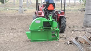 Mini Tractor Operated Shredder Machine  - Video
