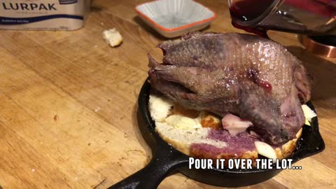 Pigeon On Toast Recipe from The Essex Boys Recipes Innit.