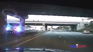 Pursuit of semi truck hauling a forklift... what could go wrong?