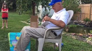 Colorblind Grandfather Receives A Touching Gift For His Birthday - Video