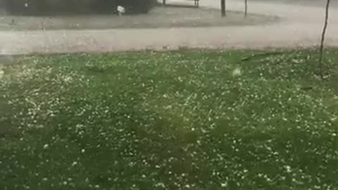 Ping Pong Hail Storm in Texas