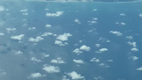 41,000 feet flying over the clouds