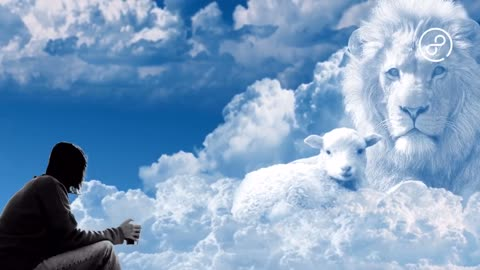 The clouds turn into a lion and a small cattle