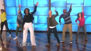 "Michelle Obama hits the dance floor on ""Ellen"""