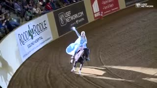 A Young Woman at An Equestrian Competition Stuns the Audience By Impersonating Queen Elsa - Video