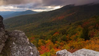 Scenic Time Lapse showcases incredible mountain views in Asheville, North Carolina - Video