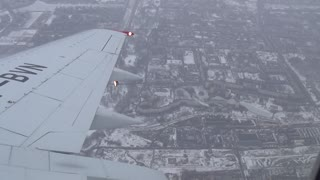 Amazing View Of Saint-Petersburg From The Plane Window